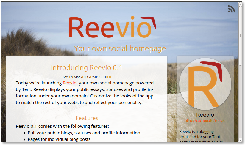 Reevio screenshot
