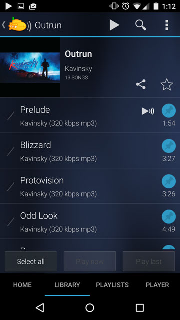 Subsonic Android album list