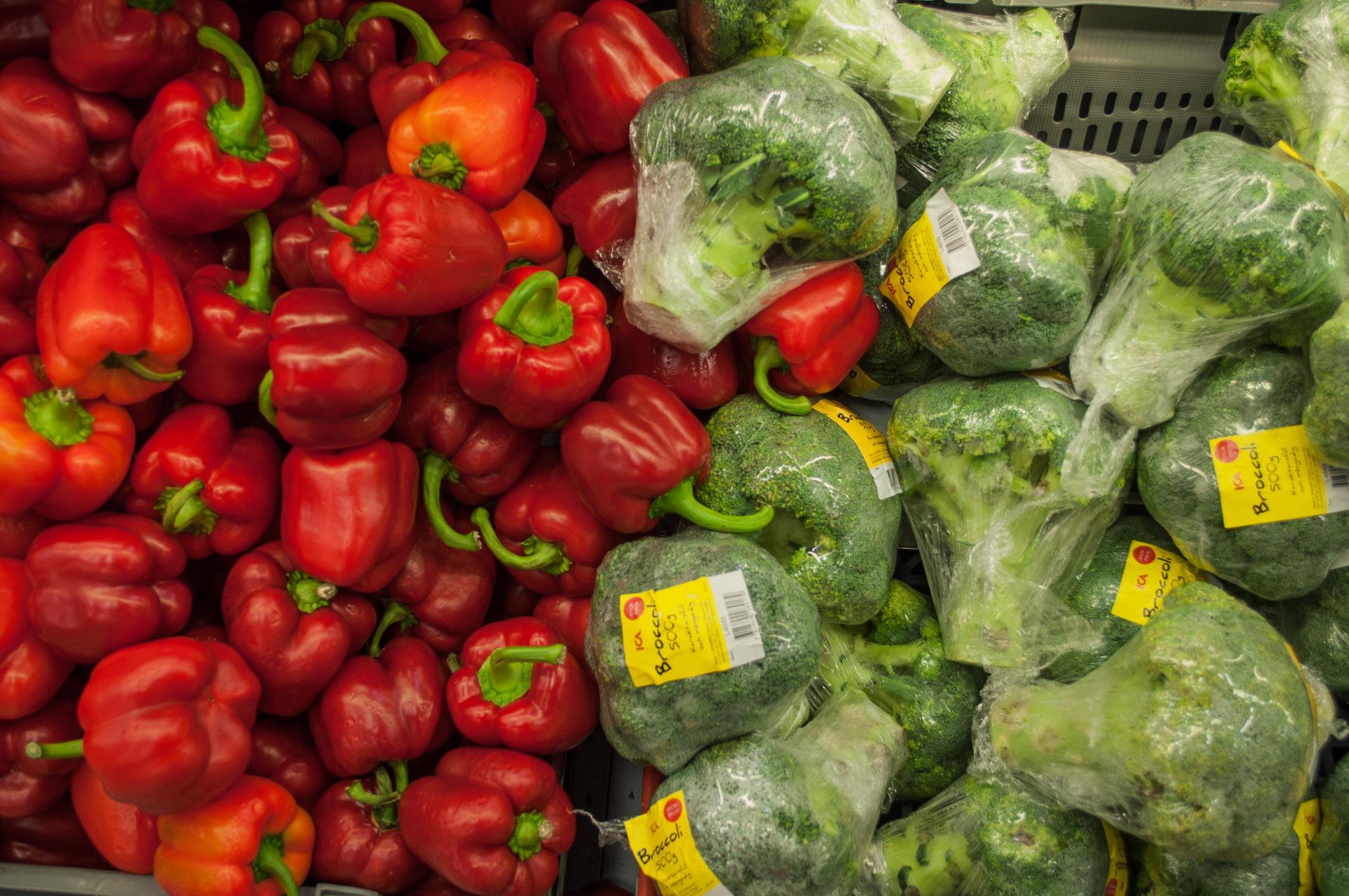 Paprica and brocoli