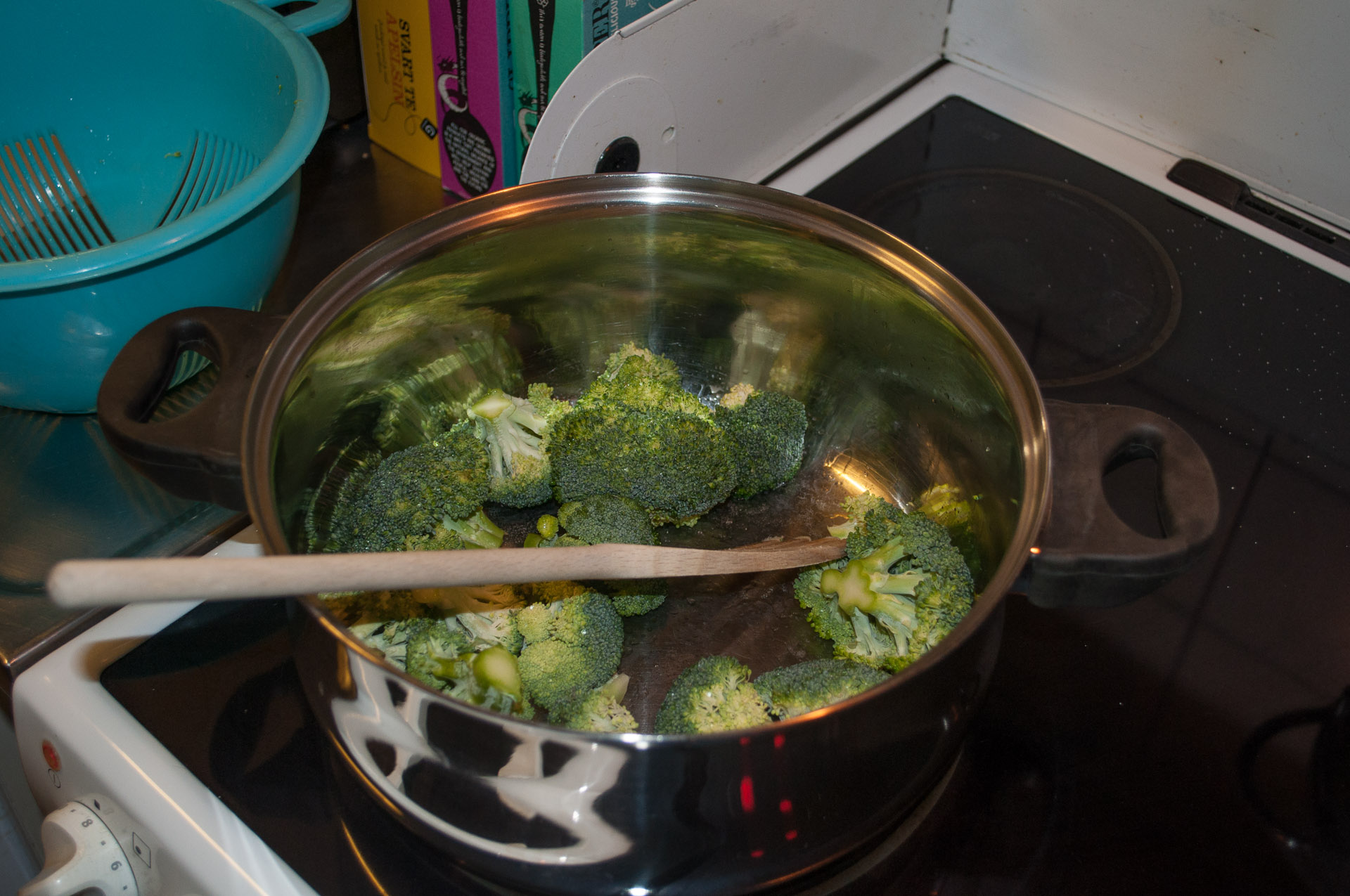 Searing broccoli