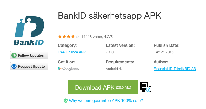 BankID säkerhetsapp APK  - Download APK