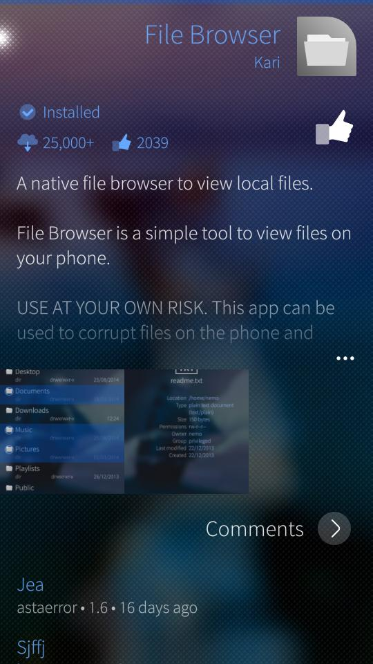 File Browser - Jolla Appstore