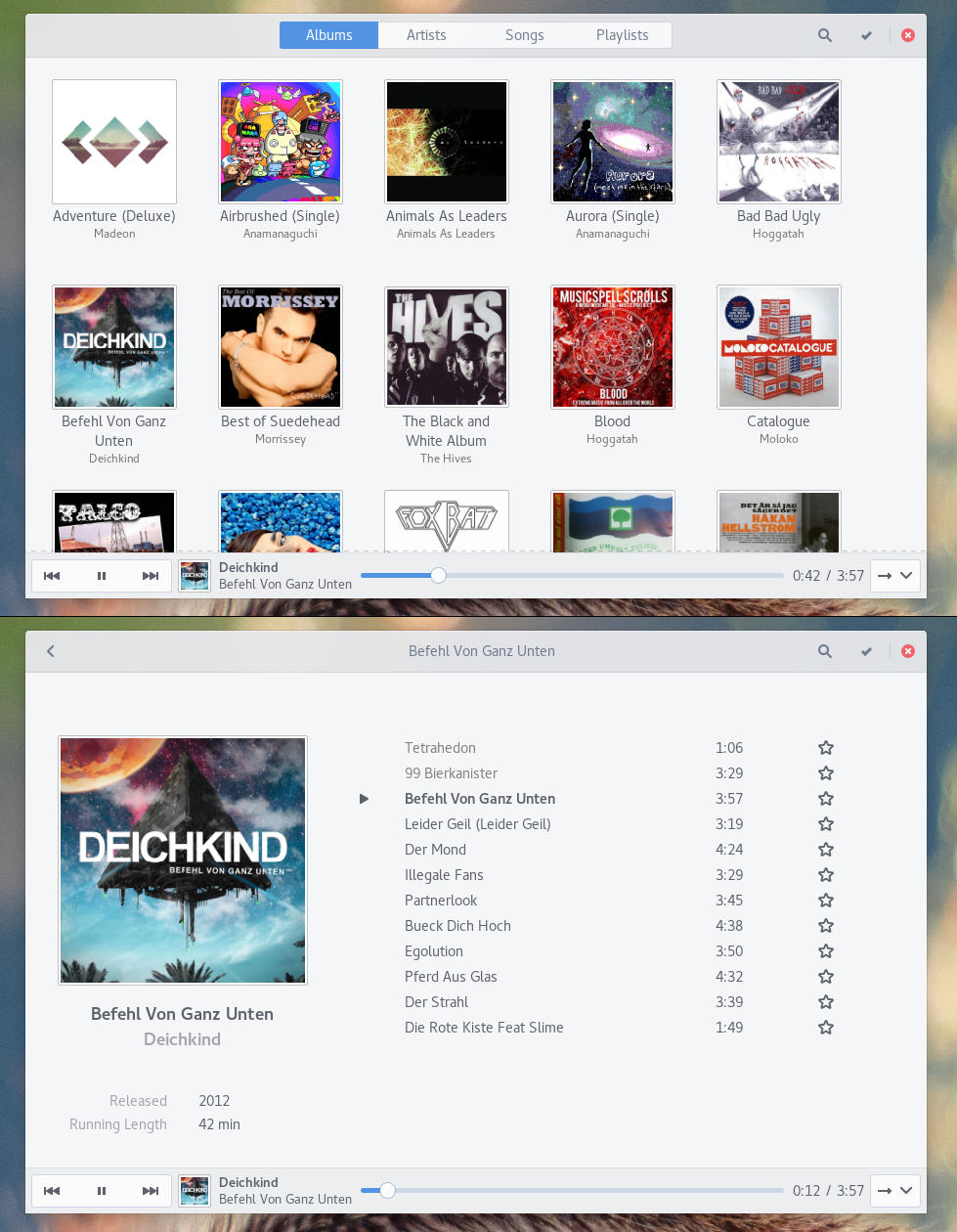 Gnome Music player