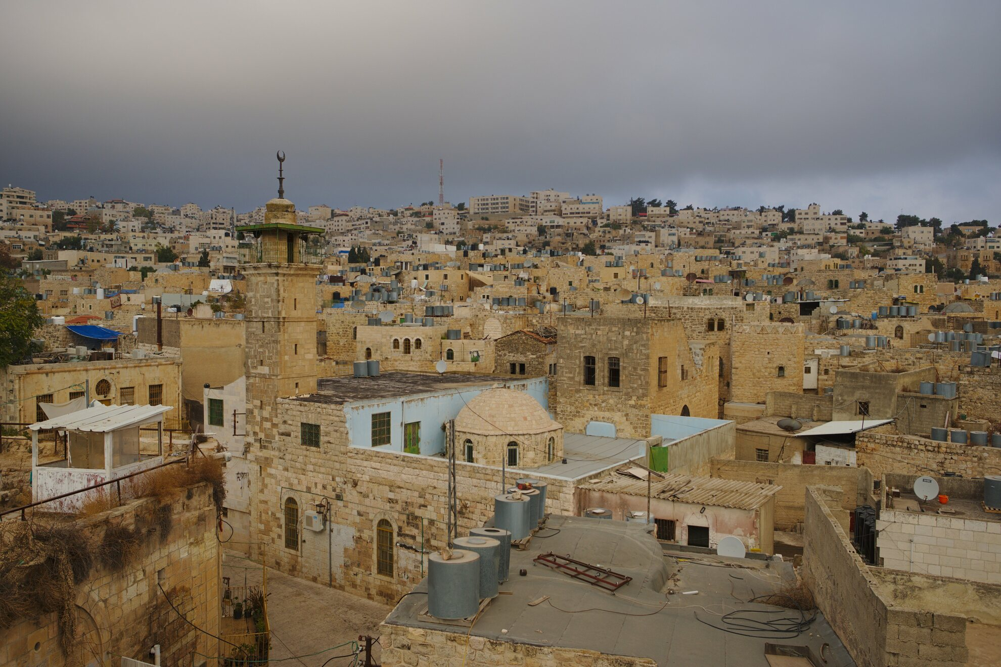 Hebron old city rooftop